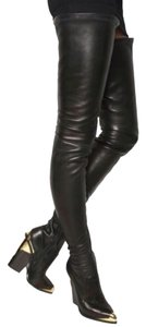 Gianni Versace Leather Black Boots