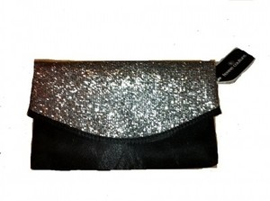 Femme Couture Black and Silver Clutch