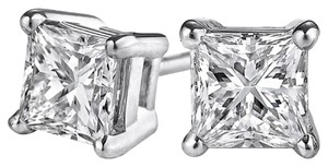 LoveBrightJewelry Look Gorgeous with Princess Cut Diamond Stud Earrings
