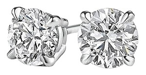 LoveBrightJewelry Natural Diamond Stud Earrings White Gold at Fab Price