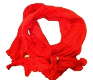Collection Eighteen Gauzy Summer Coral Wrap Around Scarf Soft and Light