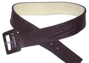 Anne Klein ANN KLEIN BROWN CROC BELT