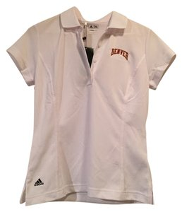adidas University Of Denver Du Polo Xs T Shirt White