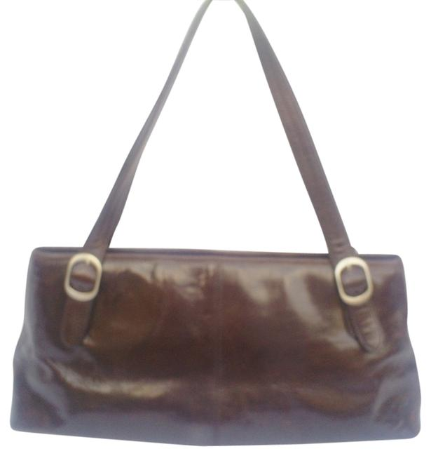 Kenneth Cole New Genuine Brown Leather Shoulder Bag Kenneth Cole New Genuine Brown Leather Shoulder Bag Image 1