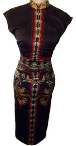 Etro Silk Cap Sleeve Date Night Night Out Holiday Asian Dress