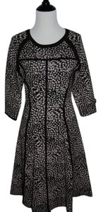 Other short dress animal print Black Gray Office Work Job Career on Tradesy