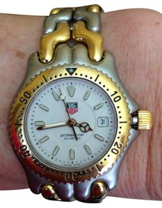 TAG Heuer TAG HEUER Professional 200M Gold Plated Steel Ladies Watch WG1420