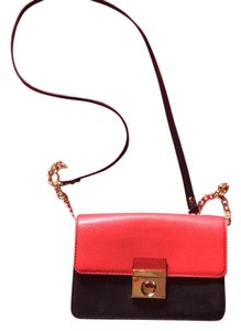 MILLY Clutch Leather Cross Body Bag