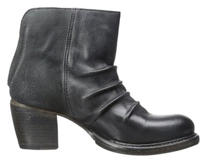 Bed|Stü Black Charcoal Leather Boots