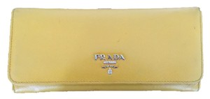 Prada Prada Yellow Saffiano Leather Wallet