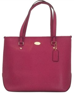 Coach Crossgrain Leather Workbag Everyday Tote in Cranberry
