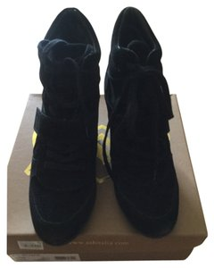 Ashitalia Black suede weathered suede Boots