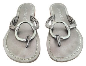 Bernardo Silver Sandal Leather Pewter Sandals