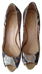 Kate Spade Peep Toe Pump Snake Skin Pumps