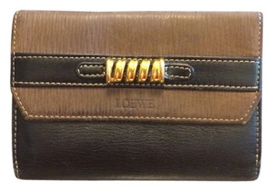 Loewe Loewe Brown Black Leather Wallet