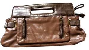 The Limited Going Out Reptile Brown Clutch
