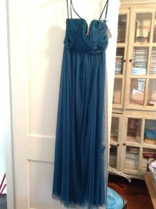 Wtoo Teal Bobbinet 337 Formal Bridesmaid/Mob Dress Size 6 (S)