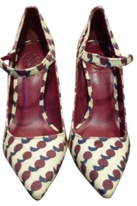 Tory Burch Mary Jane Cherry Print Pumps