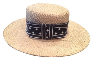 Brooks Brothers NEW BROOKS BROTHERS STRAW HAT W/HAT BOX