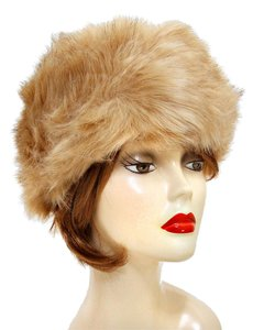 Warm Chic Camel Fur Winter Hat