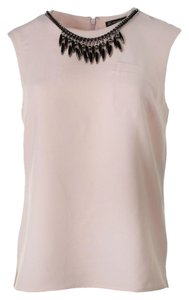 Adrianna Papell Neckless Sleeveless Top Blush
