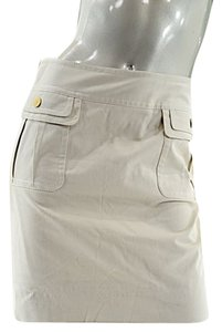 Dolce&Gabbana Dolce & Gabbana Stretch Twill Short Skirt Tan