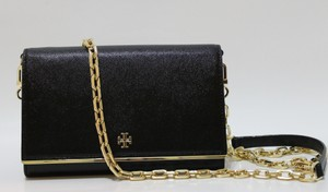 4e57db3091f Tory Burch Patent Leather Saffiano Chain Wallet Clutch Shoulder 41159006  888736865175 Robinson Purse New With Cross