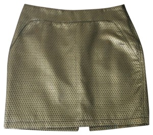 Max Studio Mini Skirt Bronze
