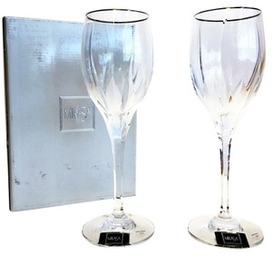 Mikasa Crystal Goblets; Flame D'Amore Platinum (Flame of Love) by MIKASA [ Roxanne Anjou Closet ]