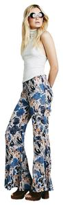 Free People New With Tags Super Flare Pants Blue
