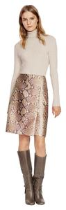 Tory Burch Skirt Snakeskin Brown Creme Taupe