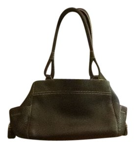 Cole Haan Soft Leather Inside Pouches Satchel in Black