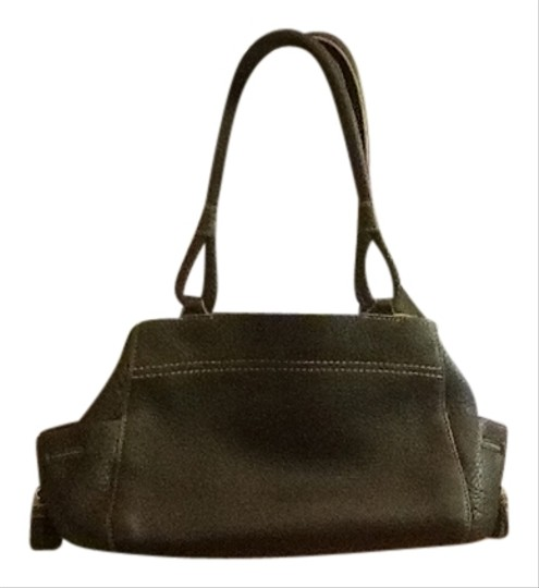 Cole Haan Soft Leather Inside Pouches Pouch On Outside Ends Satchel in Black