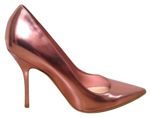 Dior Metallic Leather Pink Pumps