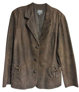 J. Jill brown Leather Blazer