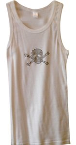 Skull And Crossbones Top WHITE