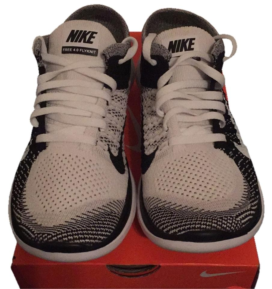 purchase cheap 04bb1 353ae Nike White/Black Free 4.0 Flyknit Sneakers Size US 7 Regular (M, B)