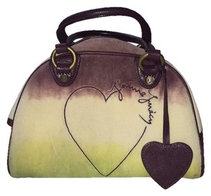 Juicy Couture Terry Ombre Bowler Heart Satchel in Multi