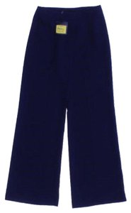 St. John New Mariegray Navy Wide Leg Crepe Nwt Collection Marie Gray Long Xs 2 Women Straight Pants