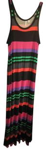 Black, pink, purple, green and grey Maxi Dress by Relativity