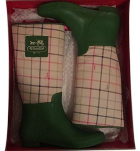 Coach Green/Ivory Multi Boots