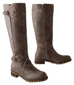 Anthropologie Rustic Tall Brown Boots