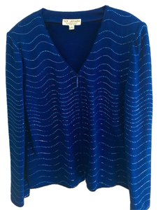 St. John Evening Cardigan Top Blue