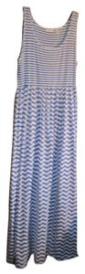 Royal blue and white Maxi Dress by Liz Claiborne