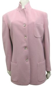 country shop Vintage Dusty Rose Wool Cashmere 12 Large L Buttoned Blazer Coat Manadarin Military Jacket