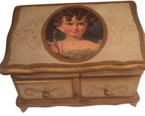 Antique Guilded Jewelry Box
