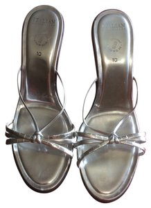 Itallian shoe makers Size 10 Platform Silver Platforms