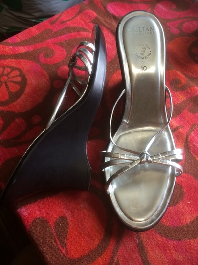 Itallian shoe makers Size 10 Size 10 Sandals Size 10 Silver Platforms