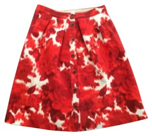 J.Crew Skirt Cream red