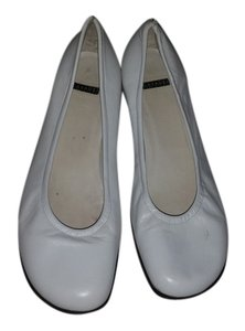 Casadei Classic Leather Ballet White Flats